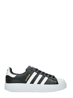 Adidas-Sneakers Superstar Bold in pelle nera bianca