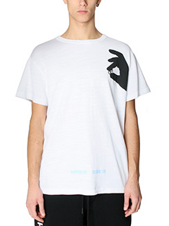 Off White-T-Shirt Hand Off in cotone bianco