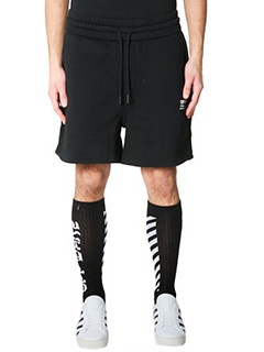 Off White-Shorts Off in cotone nero