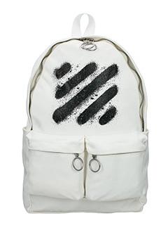 Off White-Zaino Diagonal Spray in cotone bianco