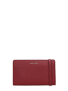 Michael Kors-Pochette Jet Set Travel Lg Crossbody in pelle bordeaux