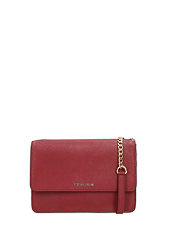 Michael Kors-Pochette Jet Set Travel Lg Phone Cross Body in pelle saffiano bordeaux