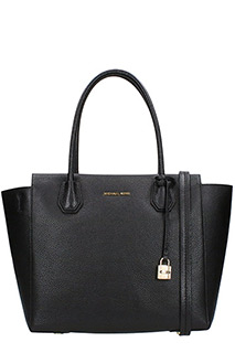 Michael Kors-Borsa Large Satchel in pelle nera