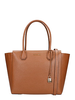 Michael Kors-Borsa Large Satchel in pelle cuoio