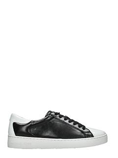 Michael Kors-Sneakers Frankie in pelle nera bianca