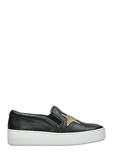 Michael Kors-Sneakers Pia Slip On in pelle nera