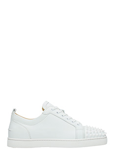Christian Louboutin-Sneakers Louis Junior in pelle bianca