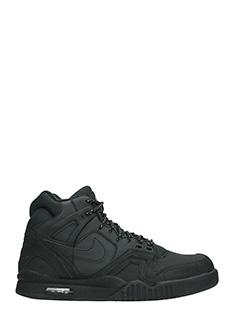 Nike-Sneakers Tech Challenge in pelle e camoscio nero