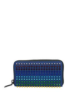 Christian Louboutin-Portafoglio Panettone Zipped  Wallet in pelle blue