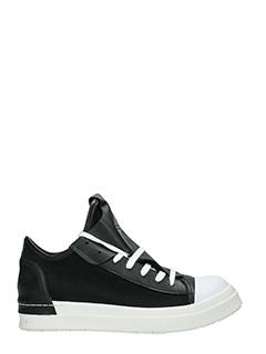 Cinzia Araia-Sneakers in pelle e camoscio nero