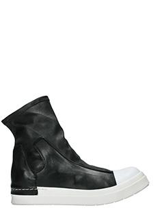 Cinzia Araia-Sneakers Slip On Mid  in pelle nera