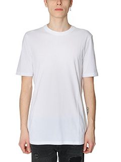 Helmut Lang-T-Shirt Standard Fit in cotone bianco