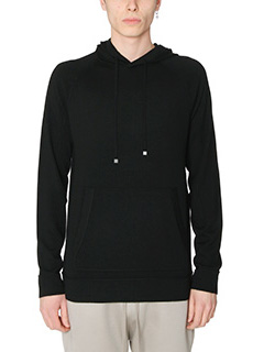 Helmut Lang-Felpa Exposed Hoodie in cotone nero