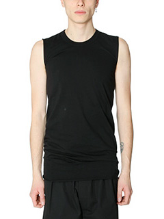 Rick Owens-Top Basic Sleeves in cotone nero