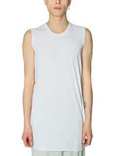 Rick Owens-Top Basic Sleeves in cotone milk