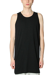 Rick Owens-Top Cylocps Tank in cotone nero