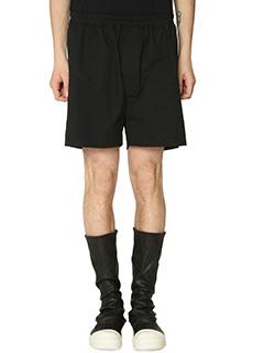 Rick Owens-Shorts Boxer in cotone nero