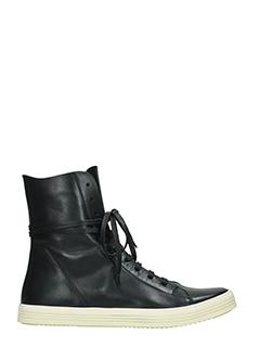 Rick Owens-Sneakers Mastodon in pelle nera