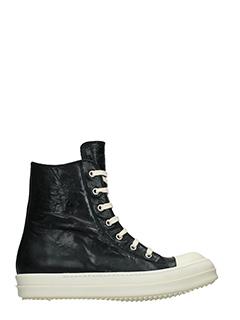 Rick Owens-Sneakers in pelle nera