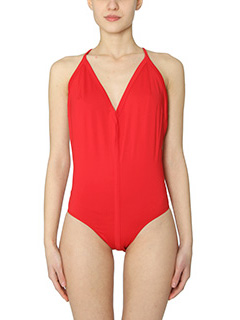 Rick Owens-Halter red polyamide beachwear