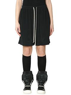 Rick Owens-Shorts in viscosa nera
