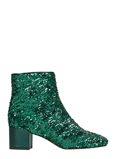 Marc Ellis-green leather ankle boots