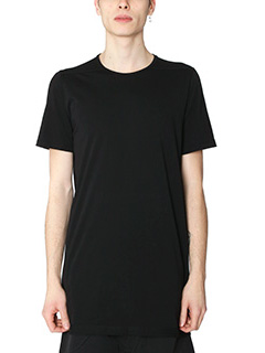 Rick Owens DRKSHDW-T-Shirt Level Tee in cotone nero
