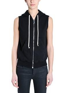 Rick Owens DRKSHDW-Reg hoodie  black cotton topwear