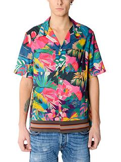 Valentino-Camicia in cotone fantasia multicolor