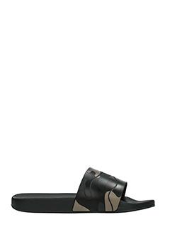 Valentino-Slides in gomma camouflage nera