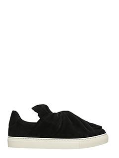 PORTS 1961-Sneakers Bow in camoscio nero