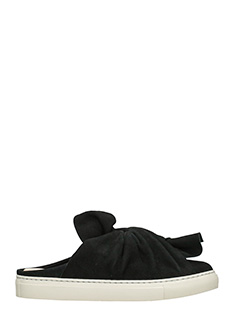 PORTS 1961-Sneakers Muse Bow in camoscio nero