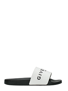 Givenchy-Sandali Slide Flats in gomma bianca