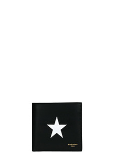 Givenchy-Portafogli Billf Old  in pelle nera