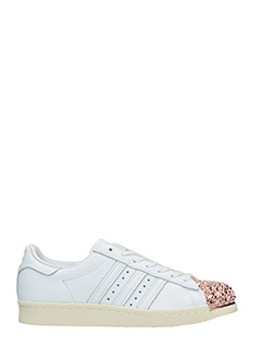 Adidas-Sneakers Superstar 80 S in pelle bianca