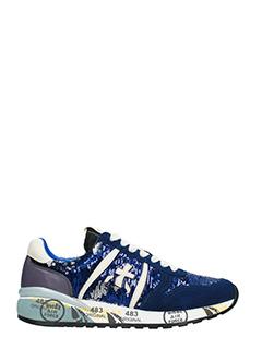 Premiata-Sneakers Diane in pelle e camoscio  blue