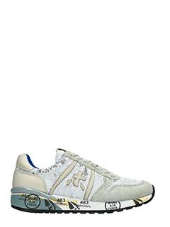 Premiata-Sneakers Diane in pelle e camoscio bianco