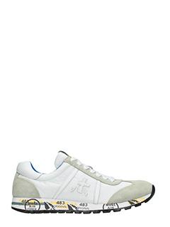 Premiata-Sneakers Lucy  in pelle e camoscio bianco