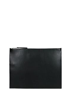 Maison Margiela-Pochette Zip in pelle nera