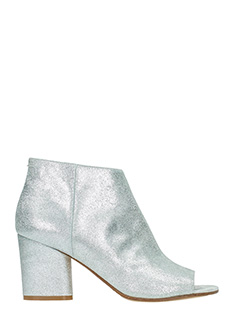 Maison Margiela-silver leather ankle boots