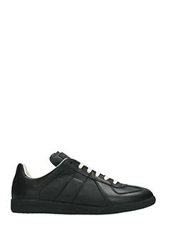 Maison Margiela-Sneakers Replica in pelle nera