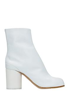Maison Margiela-Tronchetti Tabi Split Toe in pelle bianca