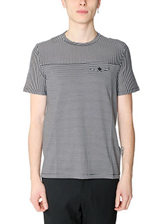 Maison Margiela-T-Shirt  in cotone nero bianco