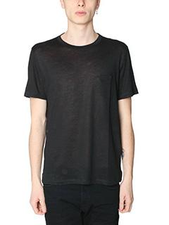 Maison Margiela-T-Shirt in cotone nero