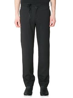 Maison Margiela-Pantaloni in lana nera