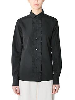 Maison Margiela-black cotton shirt