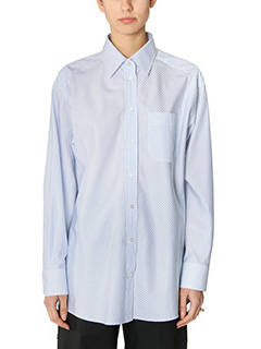 Maison Margiela-cyan cotton shirt