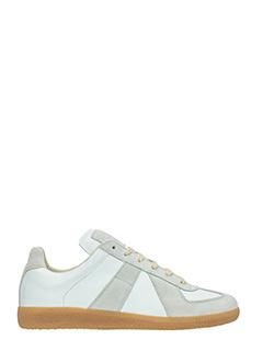 Maison Margiela-Sneakers Replica in pelle bianca grigia