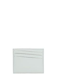 Maison Margiela-Portacarte in pelle bianca