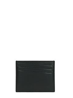 Maison Margiela-Portacarte in pelle nera